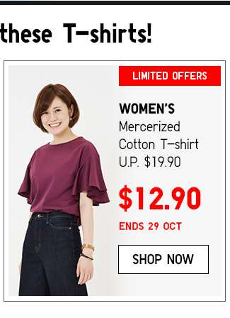 Shop Women's Mercerized Cotton T-shirts
