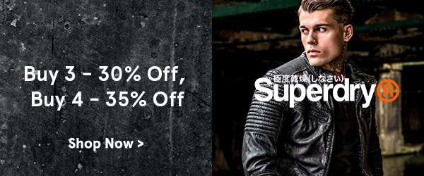 Superdry buy 4 get 35 percent off.