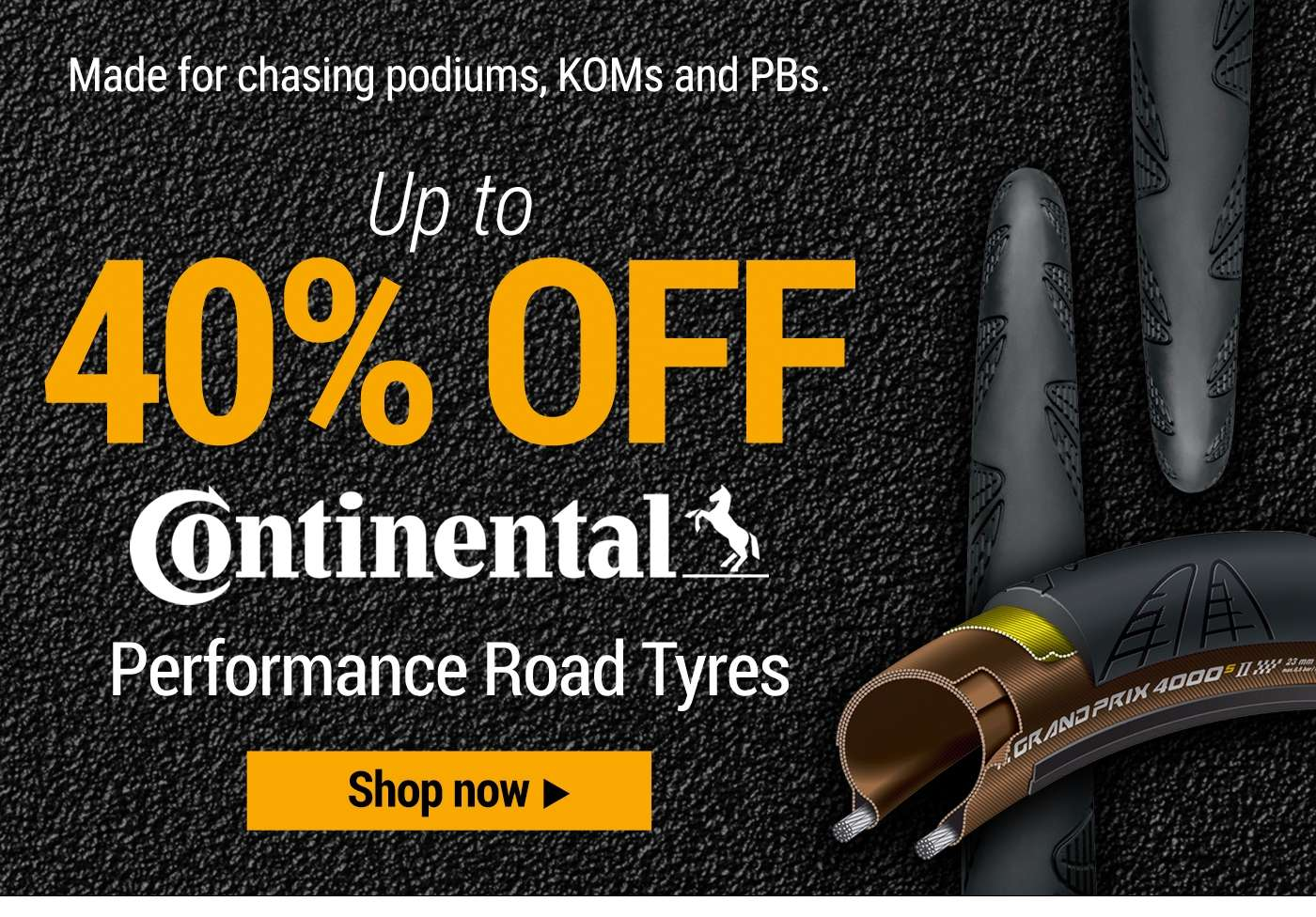 up to 40% off Continental Performance Road tyres