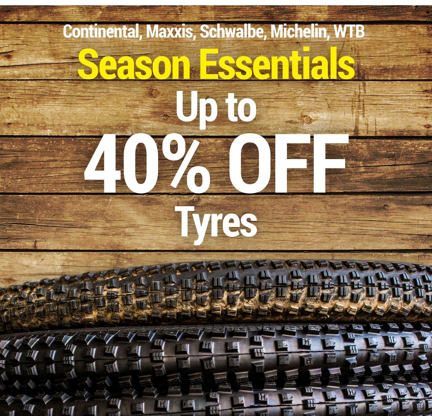 up to 40% off tyres