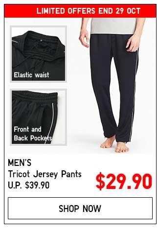 Shop Men's Tricot Jersey Pants