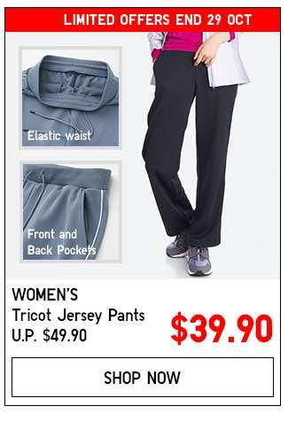 Shop Women's Tricot Jersey Pants