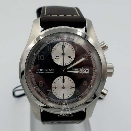 Men's  Hamilton Khaki Field Chrono Auto Watch