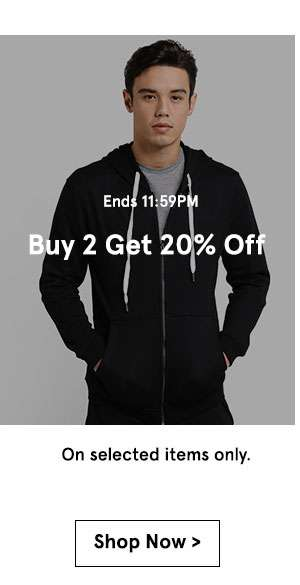 Ends 11:59 pm buy 2 get 20% off