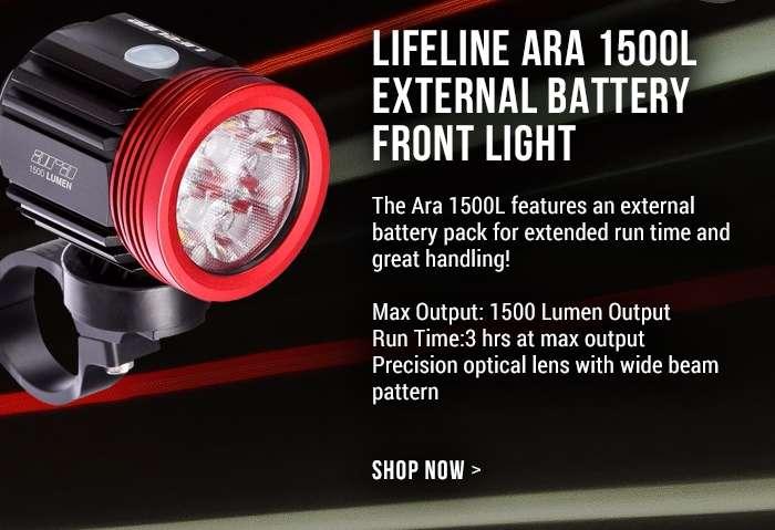 LifeLine Ara 1500L External Battery Front Light