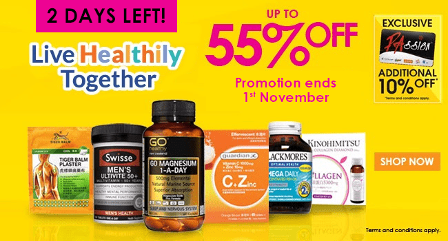 2 DAYS LEFT! Live Healthily Together - Up to 55% off!
