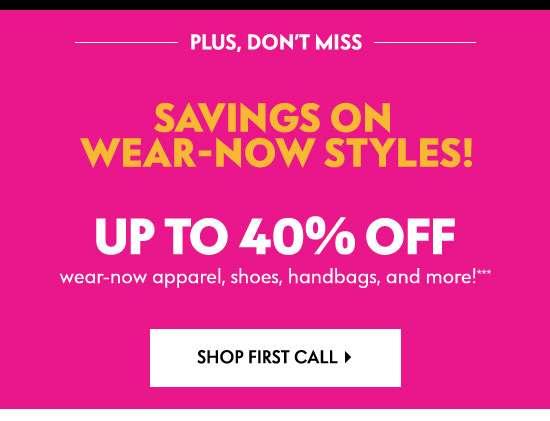 Shop First Call