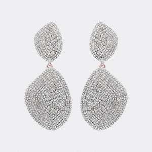 MONICA VINADER - Rose-gold and diamond earrings