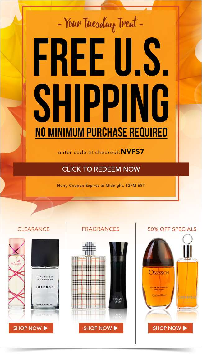FREE SHIPPING = Your Tuesday Treat