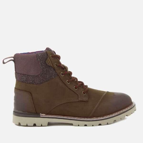 Ashland Burnished Leather Lace Up Boots