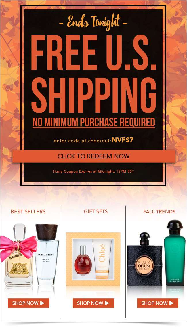 This is it! FREE SHIPPING ends tonight.