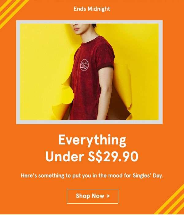 11.11 Everything under s$29.90