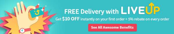 $10 off INSTANTLY on your first order with LiveUp