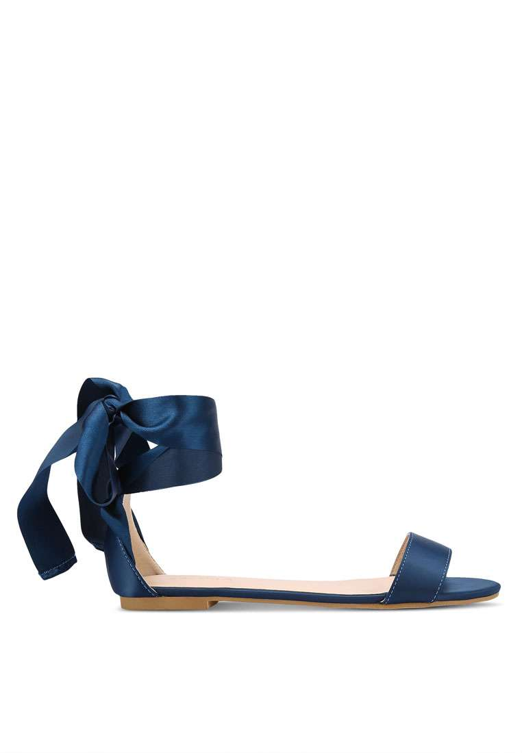 Satin Ribbon Sandals