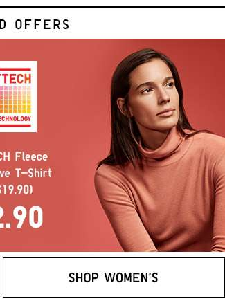Shop Women's Double 11 specials. Heattech Fleece T-shirts.