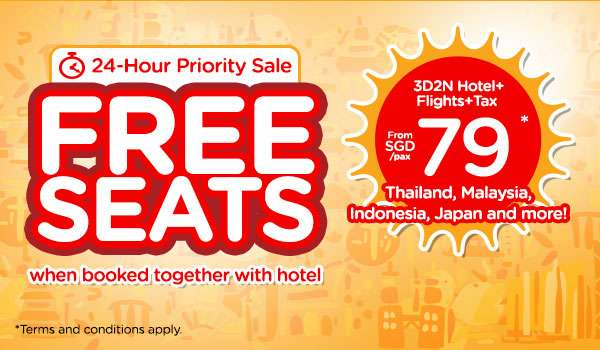 FREE SEATS when booked together with hotel | 24-Hour Priority Sale
