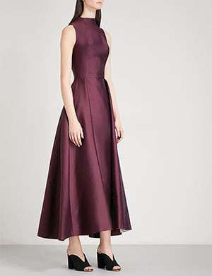MERCHANT ARCHIVE High-neck satin gown