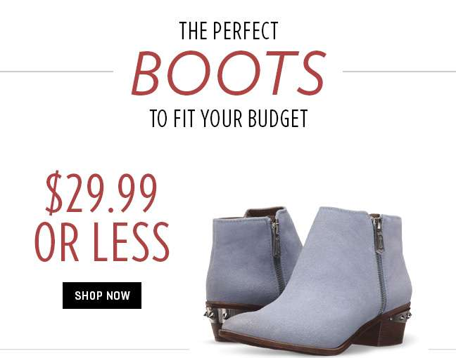 Shop 29.99 or Less Boots