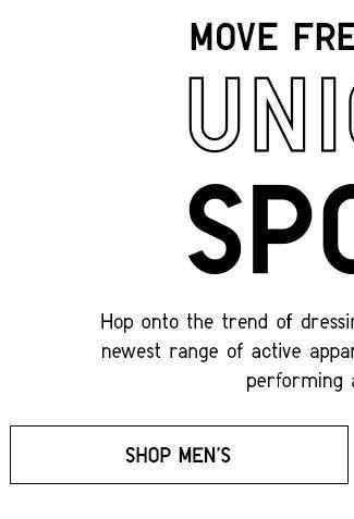 Shop Men's Uniqlo SPORT Collection