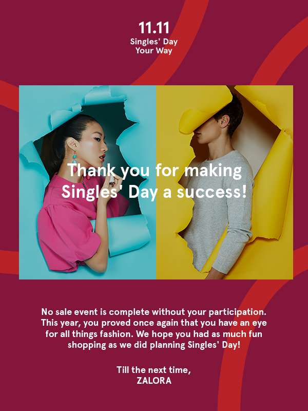 Thank you for making Singles' Day a Success