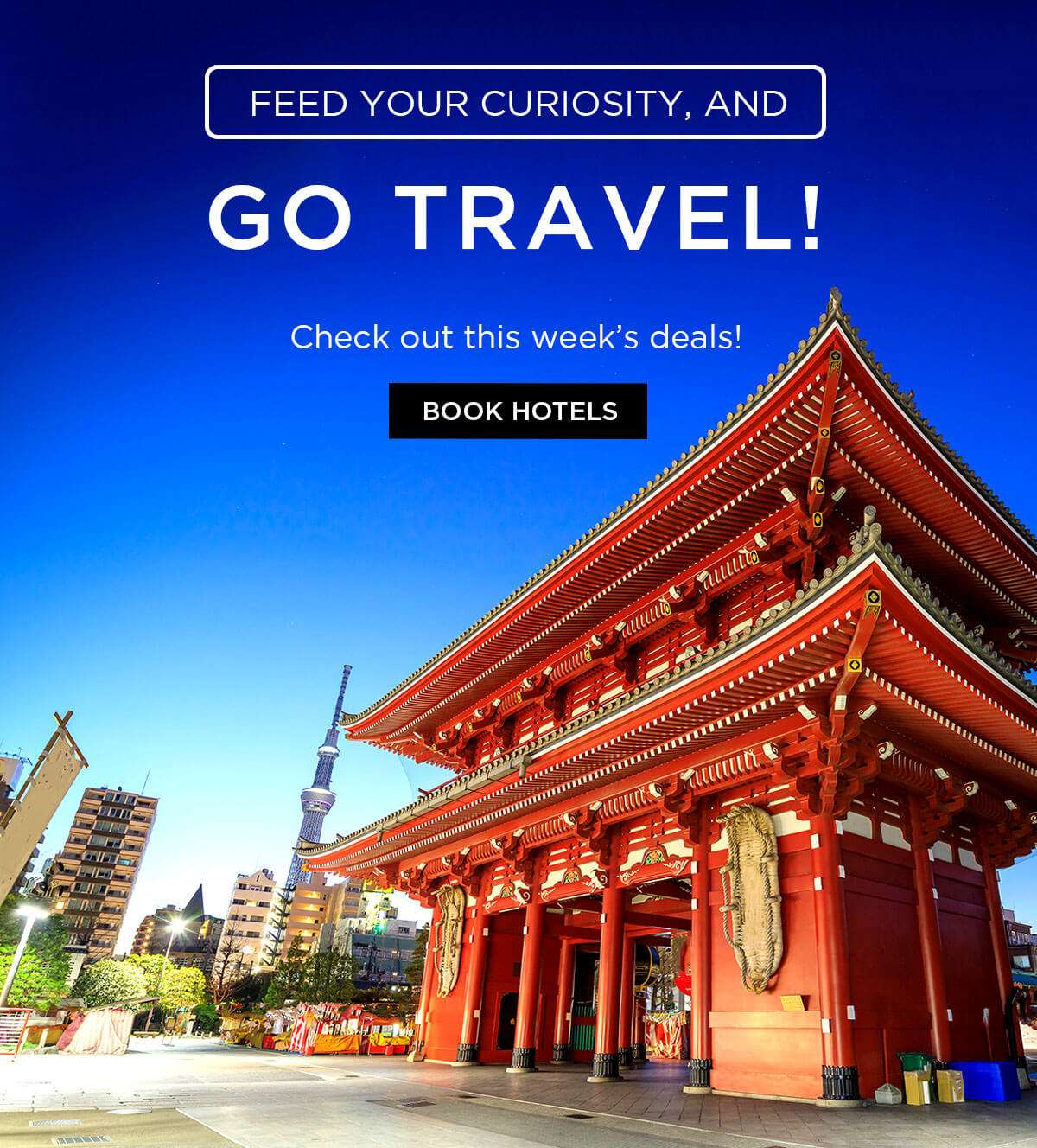 Feed your curiosity and go travel! Check out this week's deals!