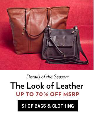 Leather Bags & Clothing