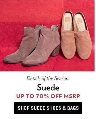 Suede Footwear & Bags
