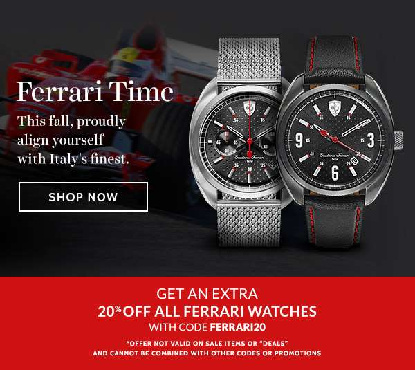 FERRARI TIME — This fall, proudly align yourself with Italy's finest.