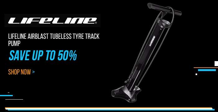 LifeLine AirBlast Tubeless Tyre Track Pump - Save up to 50%