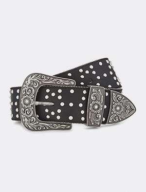 VETEMENTS - Studded leather belt
