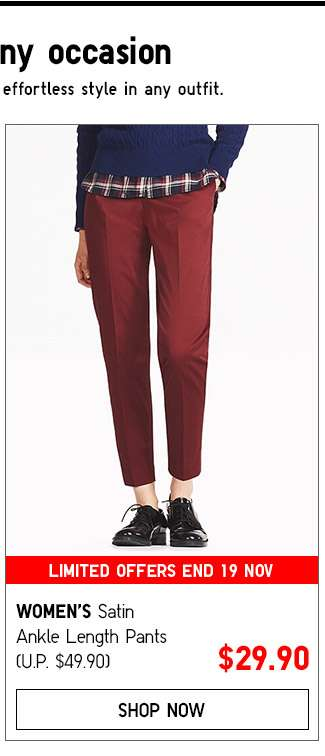 Women's Ankle Pants Collection