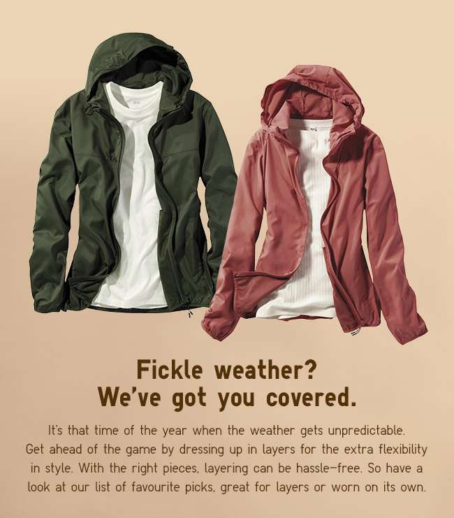 Flexible styles for fickle weather.