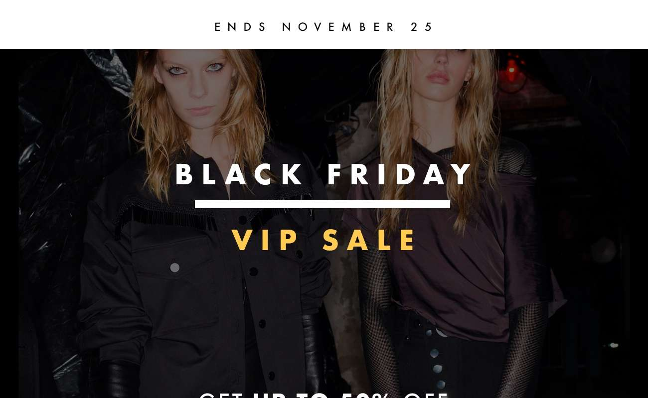 BLACK FRIDAY VIP SALE