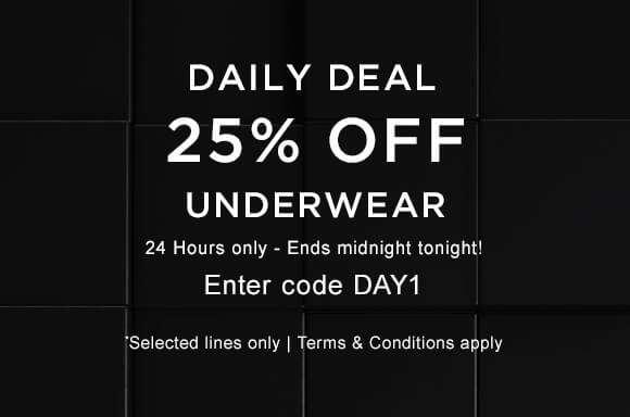 25% off Underwear