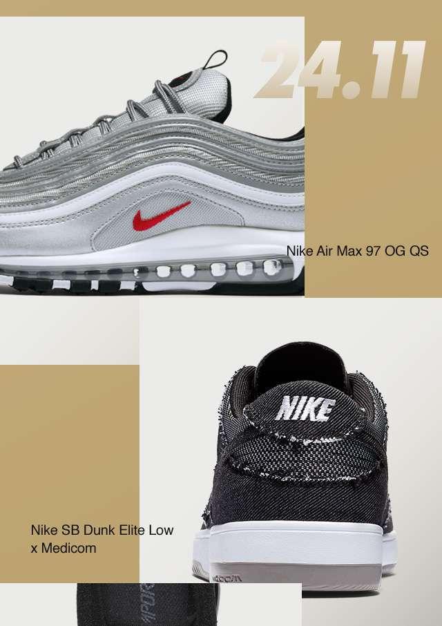 24.11 | Nike Air Max 97 OG QS | NIKE | Nike SB Dunk Elite Low x Medicom