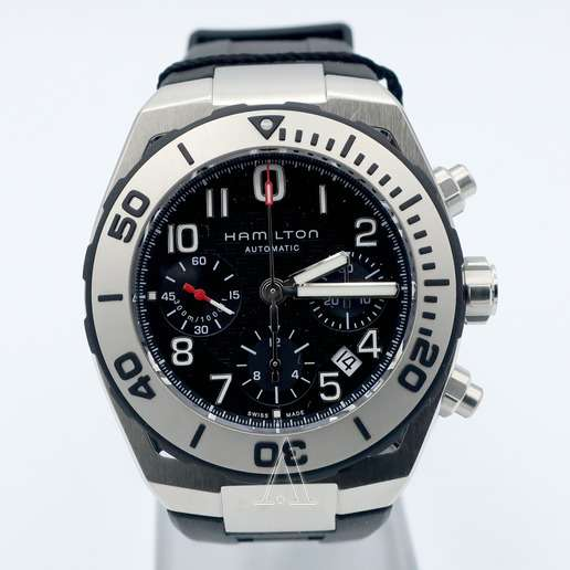 Men's  Hamilton Khaki Navy Sub Auto Chrono Watch