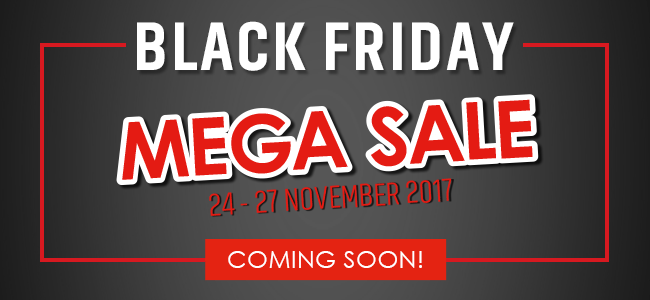 Black Friday MEGA SALE! Coming soon - Stay tuned!