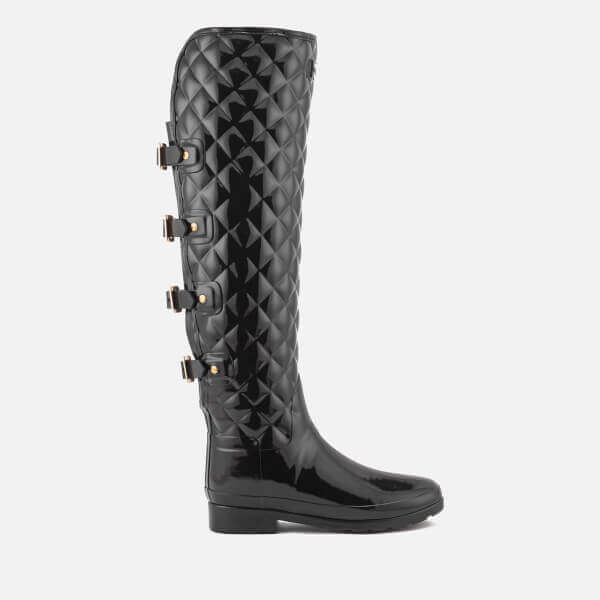 Refined Over the Knee Gloss Quilted Boots