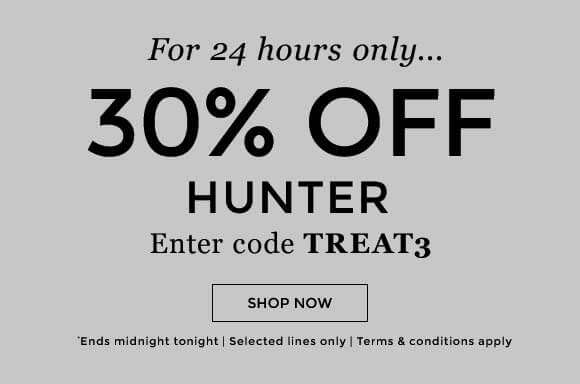 30% off Hunter