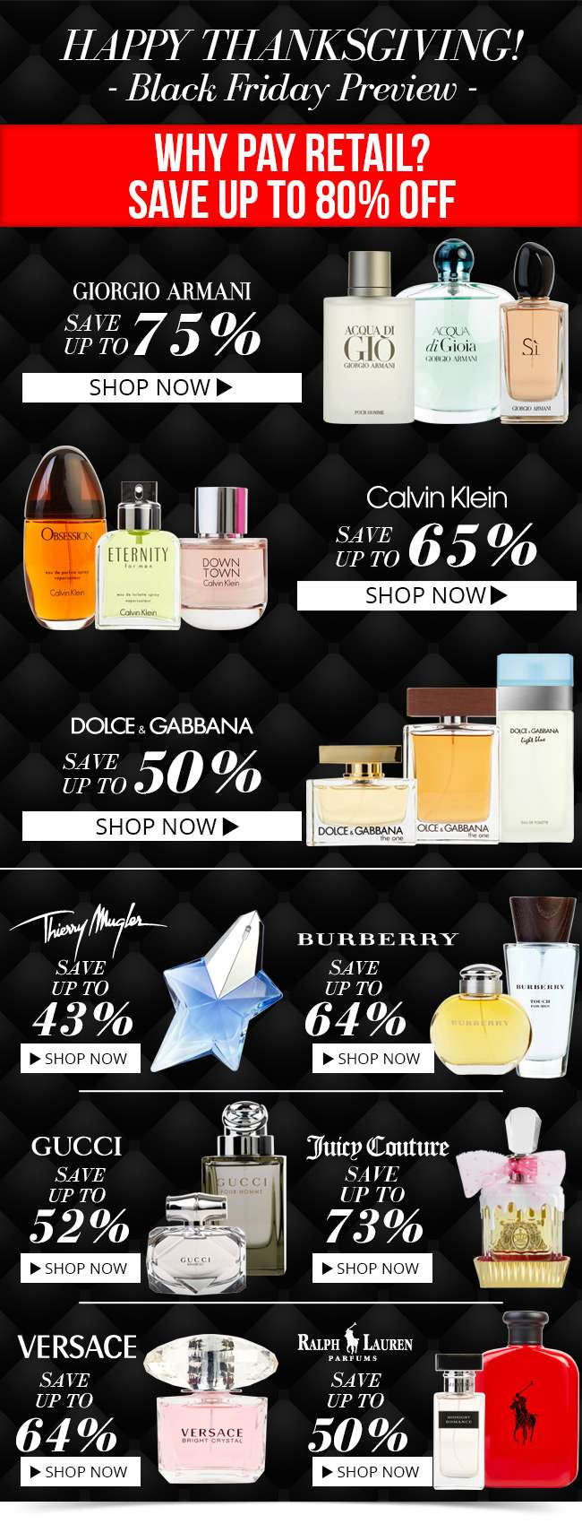 Black Friday Preview: Save up to 80% - Why pay retail prices?