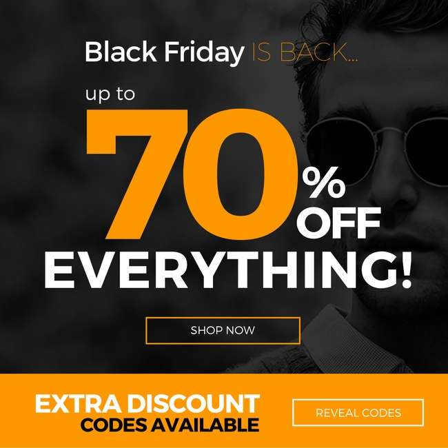 Black Friday is here! So are once in a lifetime offers! Up to 70% off eyewear 🖤