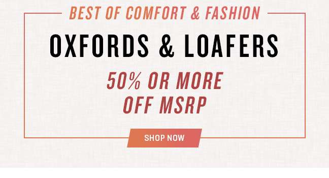 Oxfords & Loafers