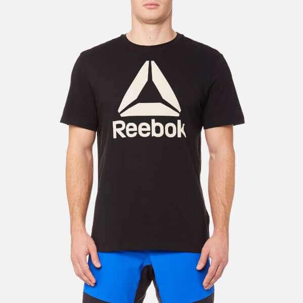 Reebok Men's Stacked Logo Short Sleeve T-Shirt