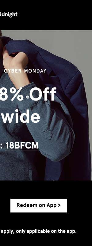 Extra 18% off. Use code 18BFCM. Shop now