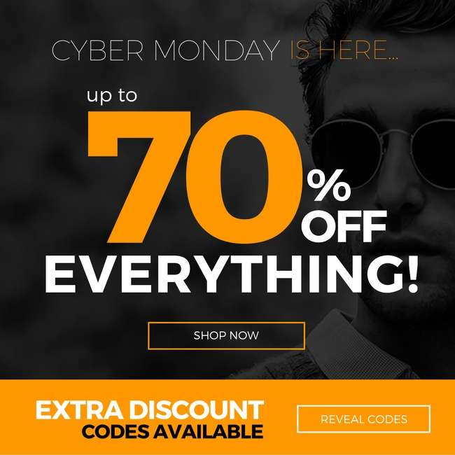 Cyber Monday - The only Monday you love! Up to 70% OFF Eyewear and much more 💙