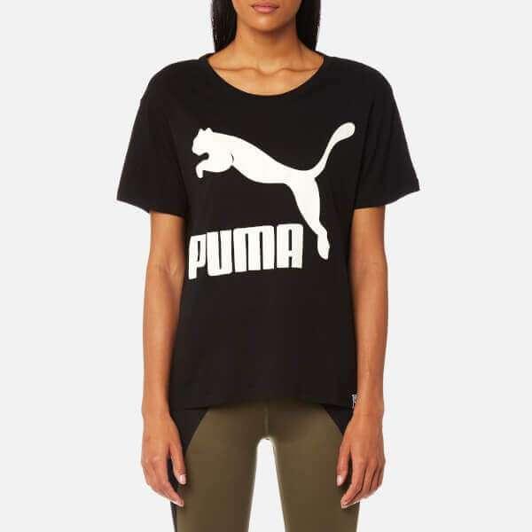 Puma Women's Archive Logo Short Sleeve T-Shirt