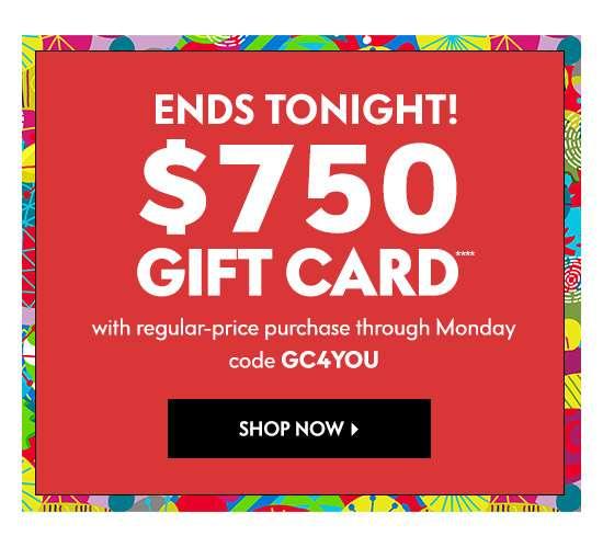 $750 gift card