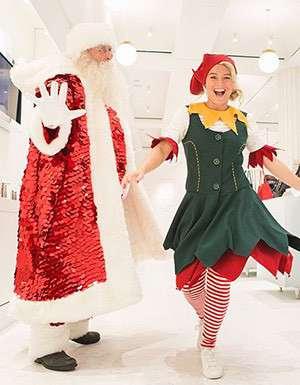 Santa and his chief elf at Selfridges Trafford