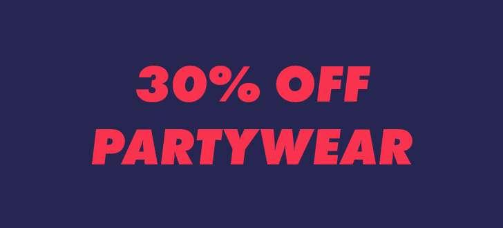 30% off partywear