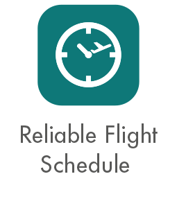 Reliable Flight Schedule